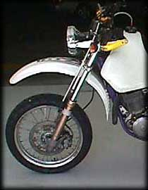 In the white, with 19 inch front wheel